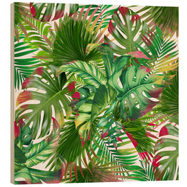 Wood print  new tropic life 3 - Mark Ashkenazi