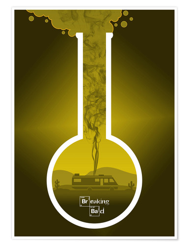 Premium poster Breaking Bad - Fanart production version in yellow alternative