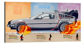 Alu-Dibond  Back to the Future, DeLorean - HDMI2K