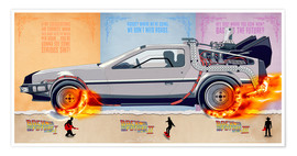 Premium poster Back to the Future, DeLorean