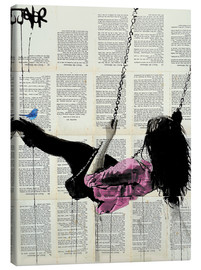Canvas print  where nothing matters (rose) - Loui Jover