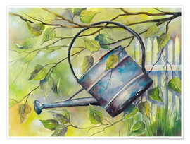 Premium poster WATERING CAN