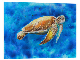 Foam board print   turtle  - Jitka Krause