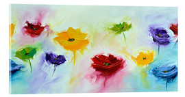 Acrylic print  Flowers colorful - Theheartofart Gena