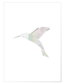 Premium poster  Origami hummingbird - Amy and Kurt Berlin