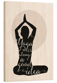 Wood print  Yoga - Amy and Kurt