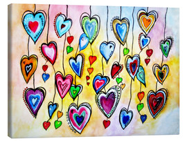 Canvas print  Awesome Colorful Hearts - siegfried2838