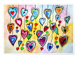 Poster  Awesome Colorful Hearts - siegfried2838