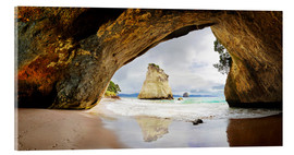 Acrylic print  Cathedral Cove - New Zealand - Michael Rucker