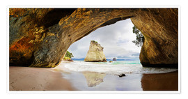 Premium poster Cathedral Cove - New Zealand