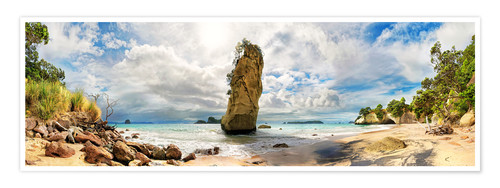 Premium poster Dream beach - Cathedral Cove Beach - New Zealand