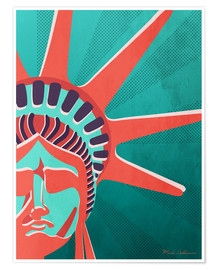 Premium poster  new york - Mark Ashkenazi