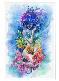Premium poster  The aura of a mermaid - Tanya Shatseva