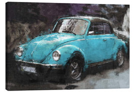 Canvas print  Little blue vintage car - LoRo-Art