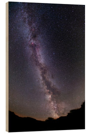 Wood print  The summer Milky Way in southern Alberta, Canada. - Alan Dyer