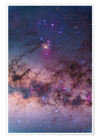 Premium poster Scorpius with parts of Lupus and Ara regions of the southern Milky Way.