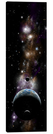 Canvas print  Earth-like planet with moons - Marc Ward