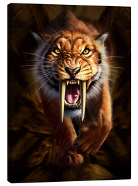 Canvas print  Full on view of a Saber-toothed Tiger - Jerry LoFaro