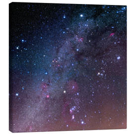 Canvas print  Winter sky panorama with various deep sky objects. - Alan Dyer