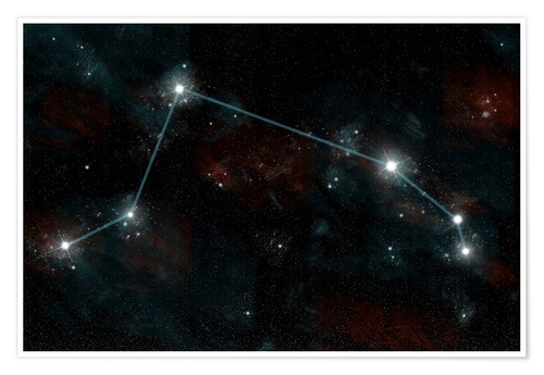 Premium poster Artist's depiction of the constellation Aries the Ram.