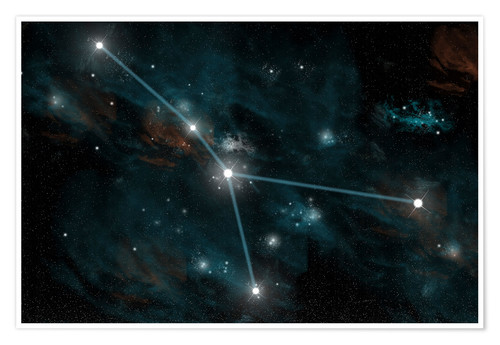 Premium poster An artist's depiction of the constellation Cancer.