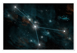 Poster  An artist's depiction of the constellation Cancer. - Marc Ward