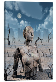 Canvas print  A broken down petrified android robot. - Mark Stevenson