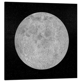 Aluminium print  Artists concept of a full moon - Elena Duvernay
