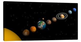 Canvas print  Planets of the solar system - Elena Duvernay