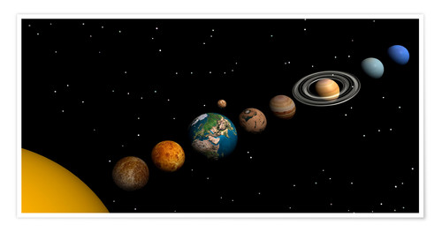 Planets Of The Solar System Posters And Prints