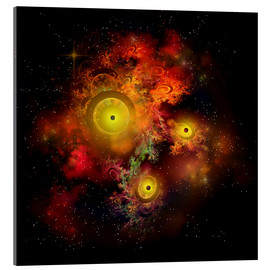 Acrylic glass  A collection of colorful nebulae, gases, dust, stars and interstellar matter. - Corey Ford