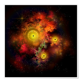 Premium poster  A collection of colorful nebulae, gases, dust, stars and interstellar matter. - Corey Ford