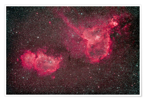 Premium poster The Heart and Soul Nebula