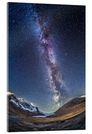 Acrylic print  Milky Way over the Columbia Icefields in Jasper National Park, Canada. - Alan Dyer