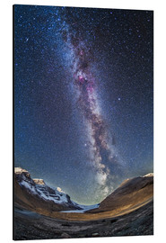Aluminium print  Milky Way over the Columbia Icefields in Jasper National Park, Canada. - Alan Dyer