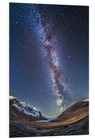 Foam board print  Milky Way over the Columbia Icefields in Jasper National Park, Canada. - Alan Dyer