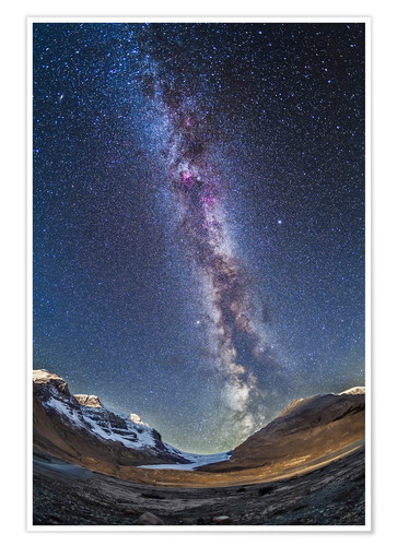 Premium poster Milky Way over the Columbia Icefields in Jasper National Park, Canada.