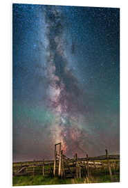 Foam board print  Milky Way over an old ranch corral. - Alan Dyer
