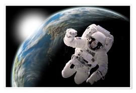Premium poster Astronaut in space