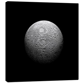 Canvas  Artist's depiction of a heavily cratered moon. - Marc Ward