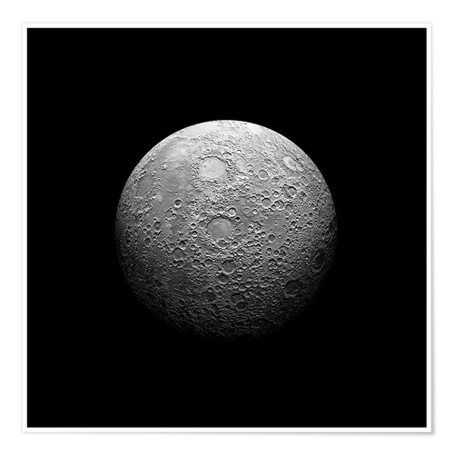 Premium poster Artist's depiction of a heavily cratered moon.