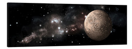 Aluminium print  A heavily cratered moon alone in deep space. - Marc Ward