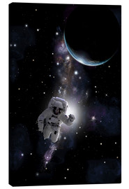 Canvas print  Artist's concept of an astronaut floating in outer space. - Marc Ward