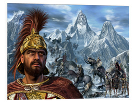Foam board print  Portrait of Hannibal and his troops crossing the Alps. - Kurt Miller