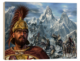 Wood  Portrait of Hannibal and his troops crossing the Alps. - Kurt Miller