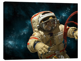 Canvas print  A cosmonaut against a background of stars. - Marc Ward