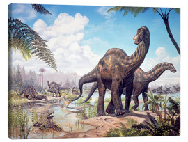 Canvas print  Large Dicraeosaurus sauropods from the Late Cretaceous of Africa.. - Mark Hallett