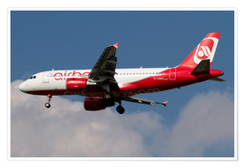 Poster  Airbus A320 of Air Berlin - Luca Nicolotti