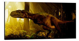 Alu-Dibond  An Abelisaurus moves stealthily though the forest. - Philip Brownlow