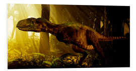 Foam board print  An Abelisaurus moves stealthily though the forest. - Philip Brownlow